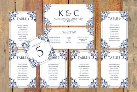 wedding seating chart template word wedding seating chart template instantly edit yourself nadine navy microsoft