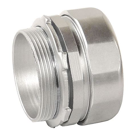 connect electrical fittings 3 in zinc plated steel compression connector garvin