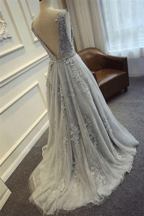 sweetheart girl custom   neck tulle lace long