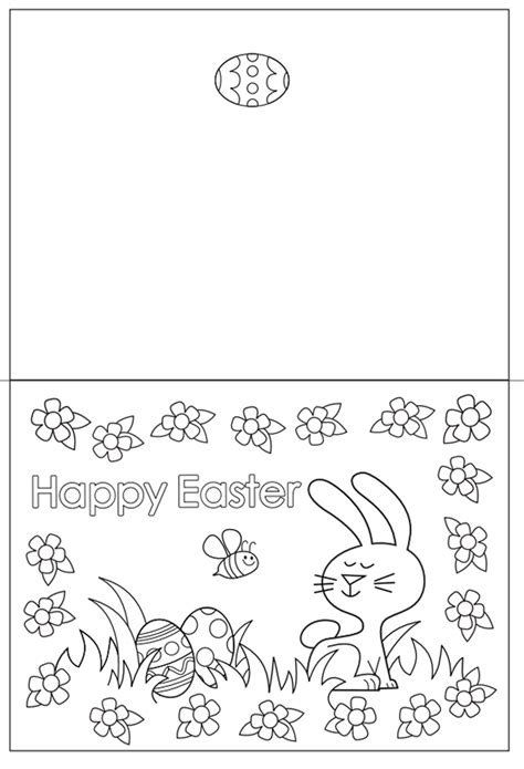 Free Easter Card Templates To Colour by Free Easter Colouring Pages The Organised