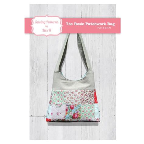 Patchwork Handbags Patterns - the rosie patchwork handbag purse bag pdf sewing pattern