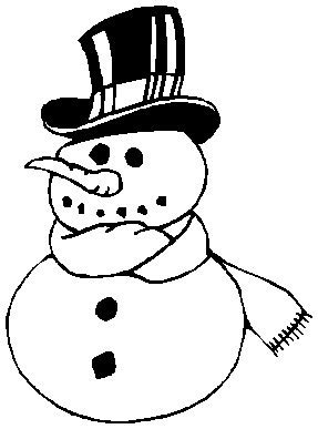 frosty hat coloring page printable christmas coloring page snowman
