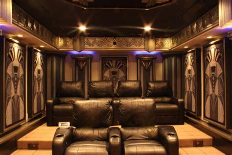 york art deco home theater design