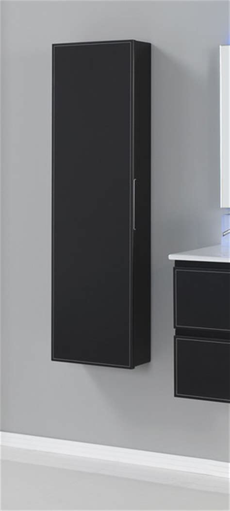 macral cuero    inches wall mounted cabinet black caw leather contemporary