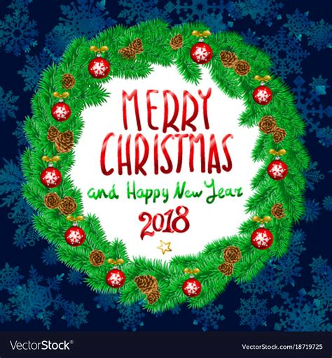 merry christmas  happy  year  vintage vector image