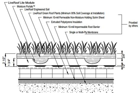 live roof rvt liveroof hybrid green roofs detail drawings