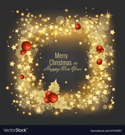 merry christmas  happy  year  greeting vector image