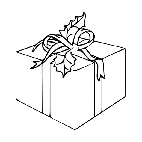 coloring pages of a christmas present christmas gift purple kitty