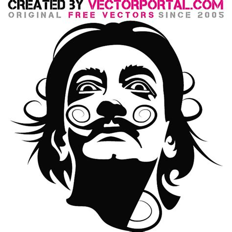 salvador dali vector image download at vectorportal