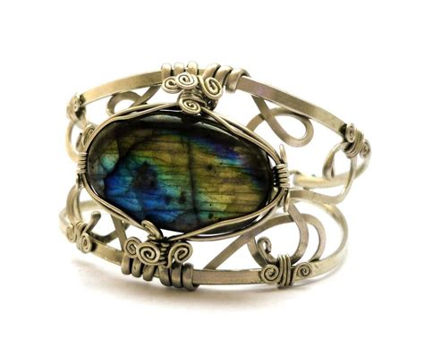 wire wrap metal bracelet by hyppiechic on deviantart