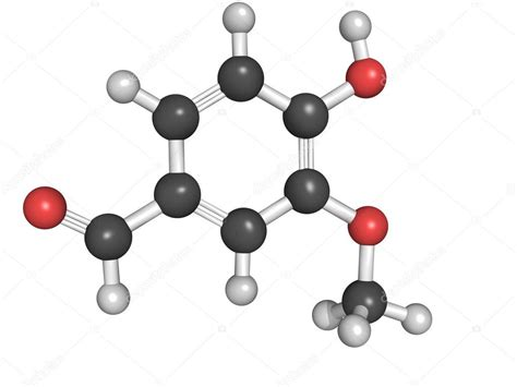 chemical structure  vanillin stock photo  lculig