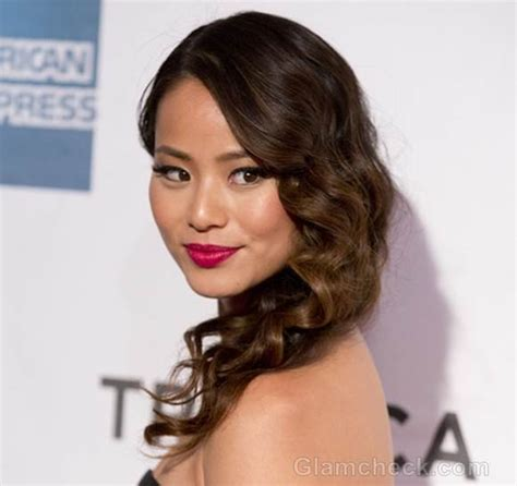 curls hairstyles on the side jamie chung hairstyles