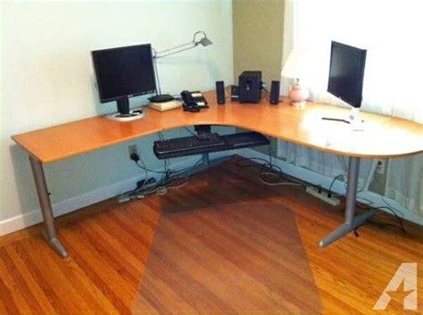 large ikea quot effektiv quot l shaped office desk in surbiton
