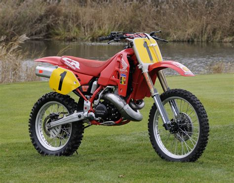 works motocross bikes for sale eric geboers 1989 honda rc500 works bike photo ahrma hrc