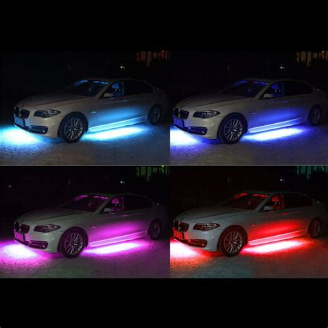 led underbody light kit 4x rgb led car underglow underbody neon