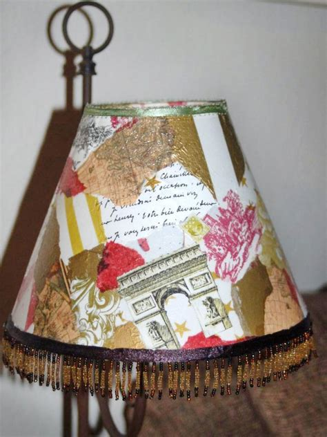 Decoupage Light Shade - decoupage crafting easy crafts and decorating
