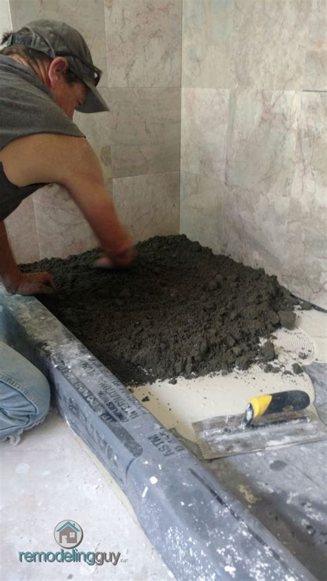 Shower Pan Mud Mix by How To Install A Sakrete Sand Mix Shower Pan Mud Bed
