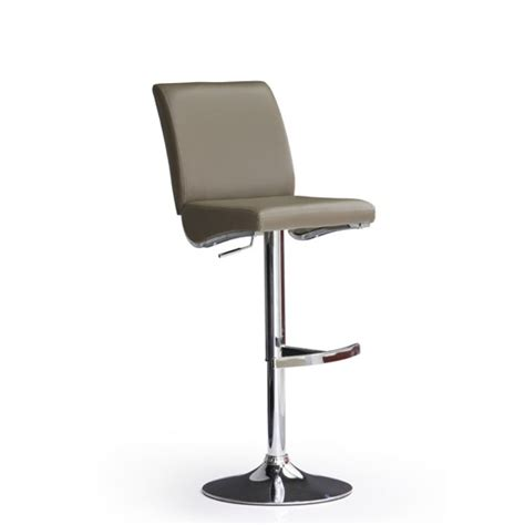 Cappuccino Bar Stools by Diaz Cappuccino Bar Stool In Faux Leather With Chrome