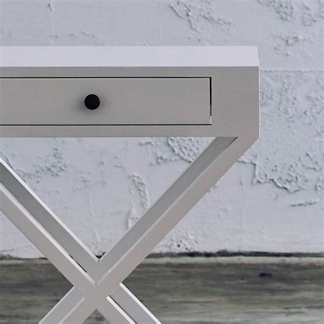 cross leg bedside table como cross leg bedside table white living by design