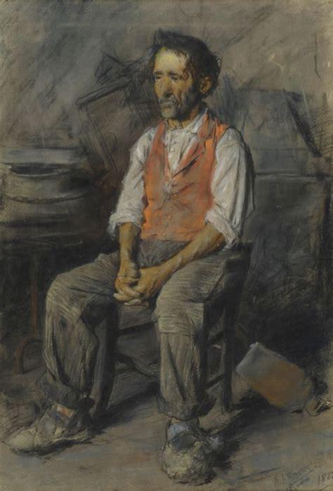 uomo seduto attanasio natale uomo seduto 1882 carboncini su