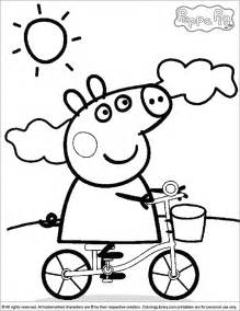 peppa pig coloring pages free coloring pages of peppa pig