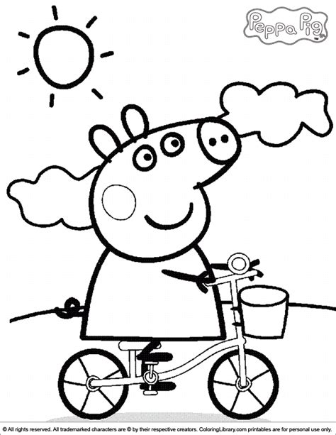 peppa pig coloring pages coloring pages peppa pig colouring craft