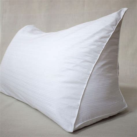 wedge pillow for reading in bed downdeals reading wedge pillow cover creative pursuits