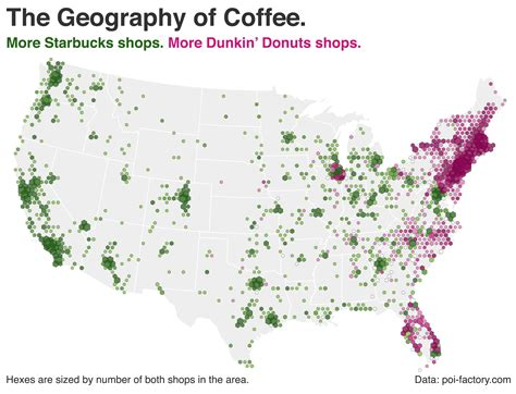 Starbucks or Dunkin? Donuts? This Map Shows Where Americans Get Their Coffee Fix. ? TheBlaze