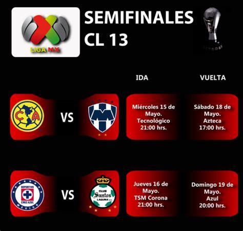 Calendario De Liguilla 2015 Calendario De Semifinales De La Liguilla 2013 Horarios De