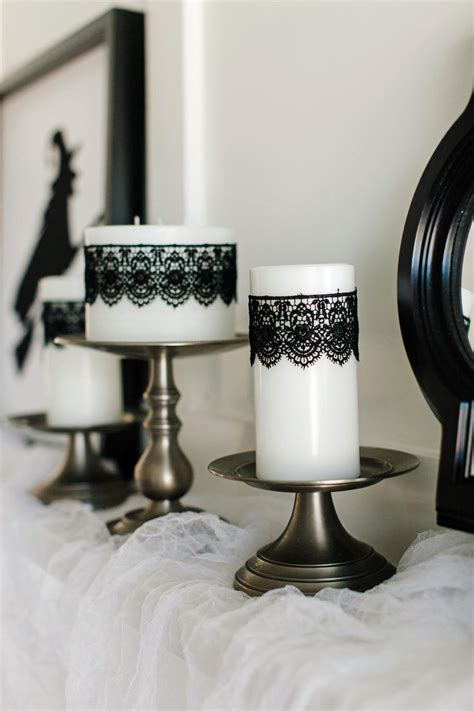 How To Decorate Candles At Home Decorating Ideas How To Make Black Lace Candles How Tos Diy