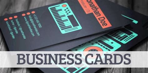 Amazing Business Card Designs Templates by Exles Of Dj Business Cards Thelayerfund