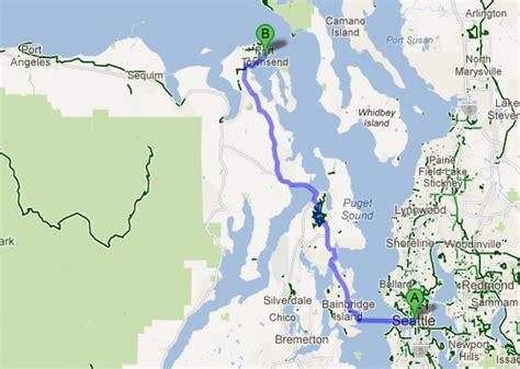 seattle map ferry new seattle port townsend walk bike ferry in the works