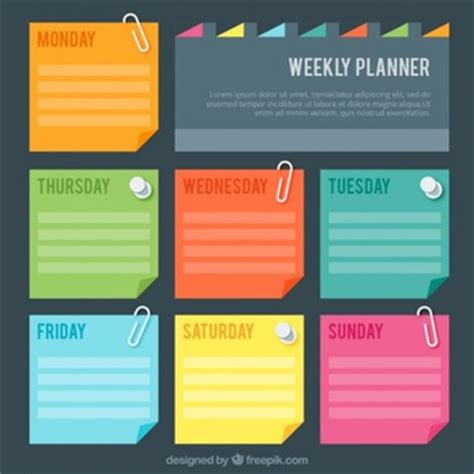 daily planner template illustrator schedule vectors photos and psd files free download