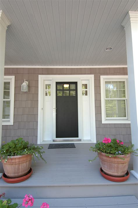 Painted Wooden Front Doors Painted Wood Craftsman Front Door With A Sidelight On Each Side Craftsman Cottage By