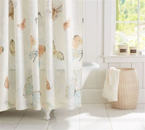 shower curtain pottery barn butterfly shower curtain pottery barn bathroom pinterest