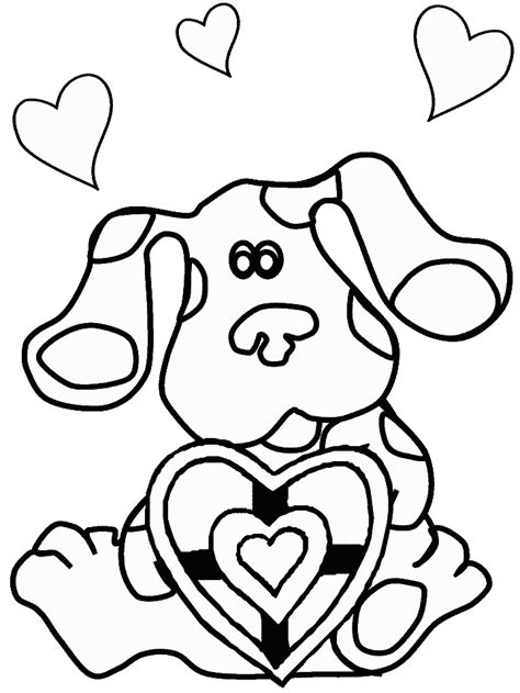 nick jr blue s clues coloring pages kids n fun com 15 coloring pages of blues clues