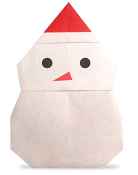 Origami Snowman - origami snowman2
