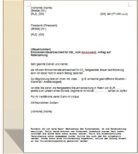 Antrag Partnermonate Vorlage Antrag Ratenzahlung Finanzamt Musterschreiben