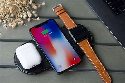 plux wireless charging station  iphone  airpods