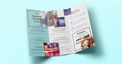 signature tri fold brochure template brochure templates