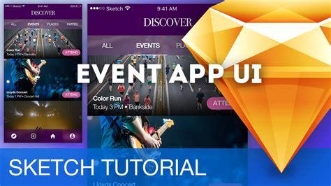 sketchbook ios tutorial event app ui ios sketchapp sketch 3 tutorial design
