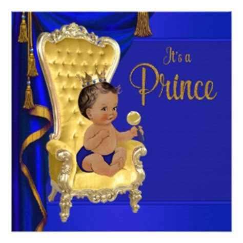 prince ethnic background fancy prince baby shower invitations announcements