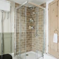 Period Bathrooms Ideas Shower Cubicle With Travertine Tiles Be In Inspired By