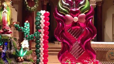 como decorar para la virgen de guadalupe decoraci 243 n con globos de la virgen de guadalupe youtube