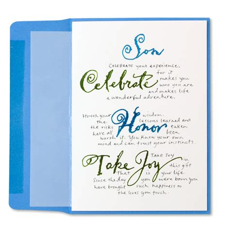 Birthday Cards For On Loose Calligraphy For Son Family Birthday Cards Papyrus