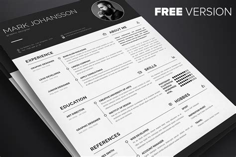 5 Free Professional Clean Resume Templates A Graphic World Free Indesign Style Sheet Template