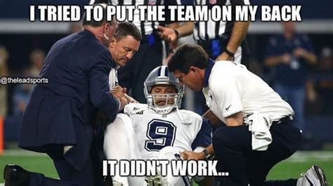 Broken Back Meme - tony romo back injury memes the best of the internet s