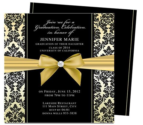 dandy graduation announcement invitation template