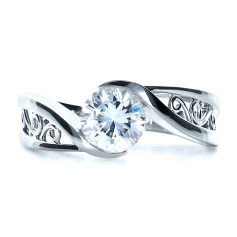 custom filigree and engagement ring 1305
