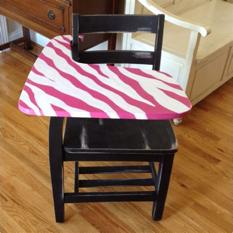 Pink Student Desk by Sassy Pink Zebra Student Desk Now It Just Needs A